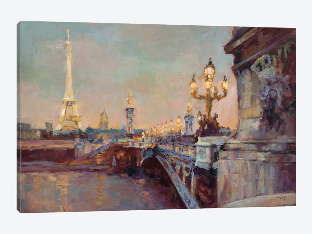"Parisian Evening Crop  by Marilyn Hageman Canvas Print 60"" L x 40"" H x 1.5"" D - eWallArt"