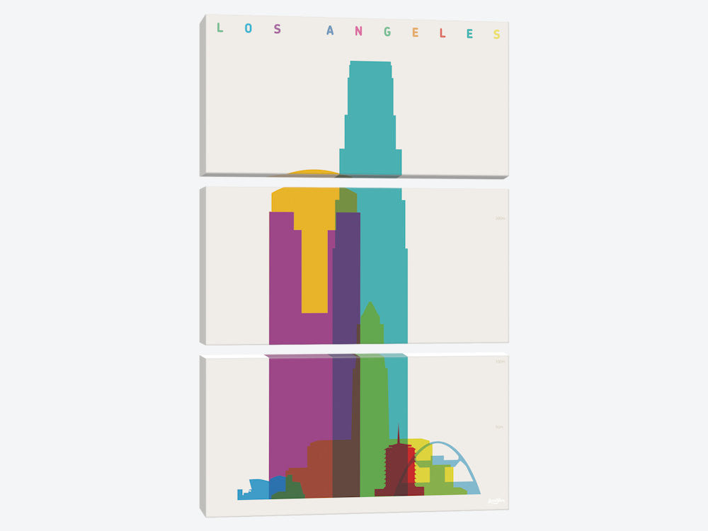 "Los Angeles by Yoni Alter Canvas Print 40"" L x 60"" H x 0.75"" D - eWallArt"