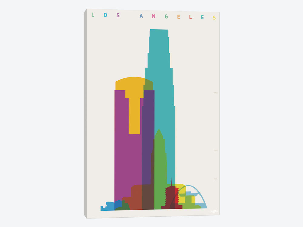 "Los Angeles by Yoni Alter Canvas Print 40"" L x 60"" H x 1.5"" D - eWallArt"