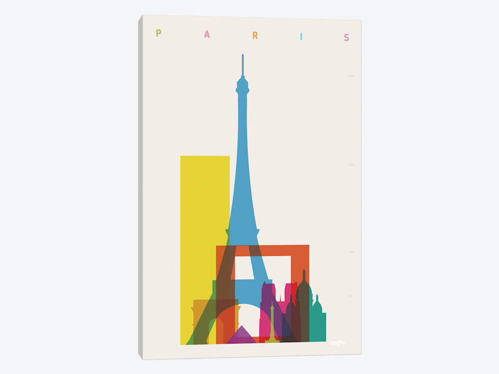"Paris by Yoni Alter Canvas Print 26"" L x 40"" H x 0.75"" D - eWallArt"
