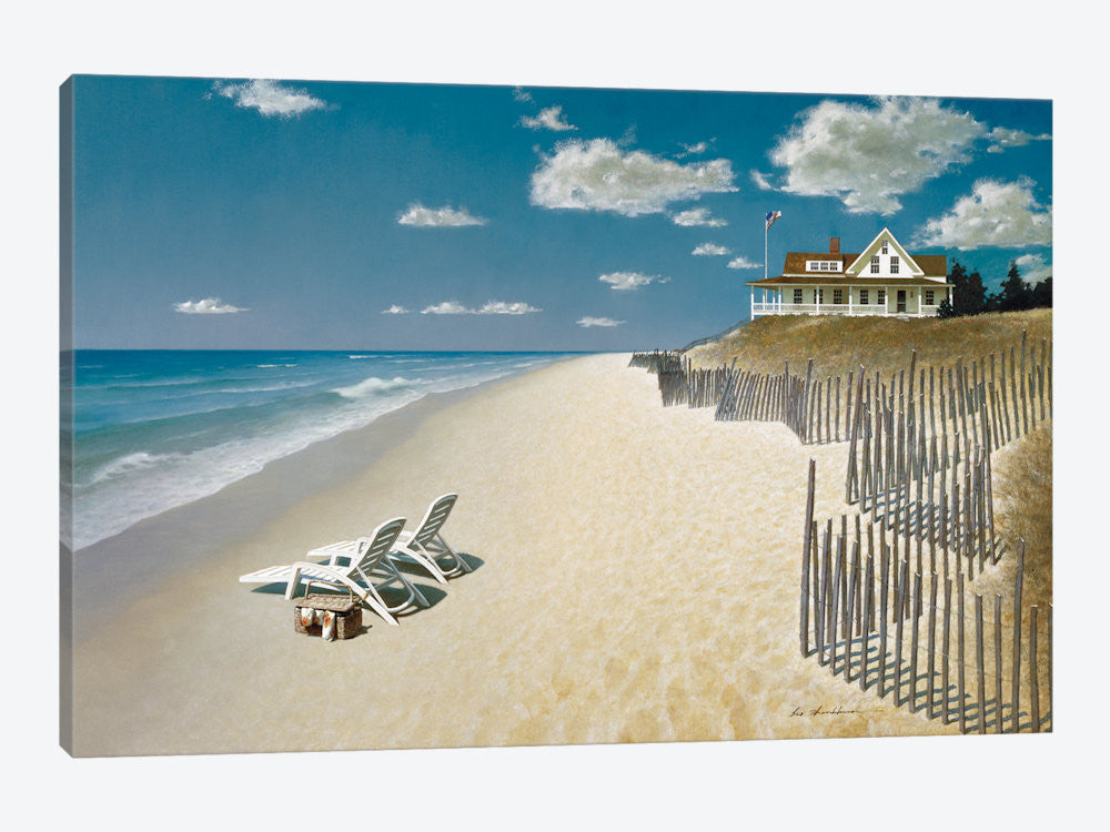"Beach House View I by ZhenHuan Lu Canvas Print 40"" L x 26"" H x 0.75"" D - eWallArt"