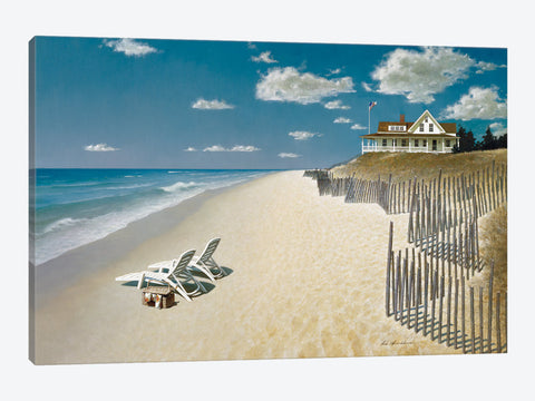 "Beach House View II by ZhenHuan Lu Canvas Print 40"" L x 26"" H x 0.75"" D"