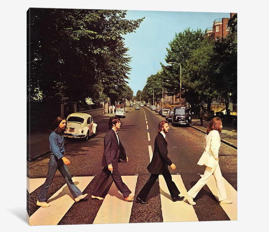 "Beatles Abbey Road by Radio Days Canvas Print 48"" L x 48"" H x 1.5"" D"