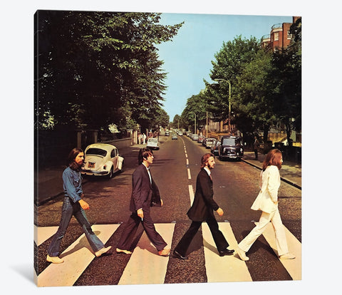 "Beatles Abbey Road by Radio Days Canvas Print 37"" L x 37"" H x 0.75"" D"