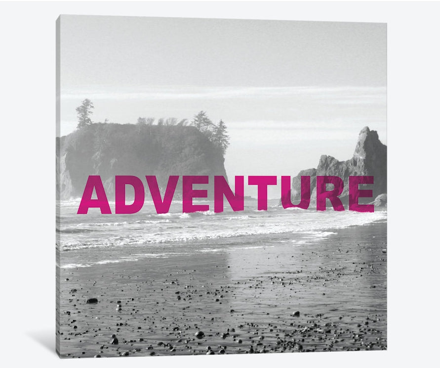 "Bold Adventures V (ADVENTURE) by Laura Marshall Canvas Print 26"" L x 26"" H x 0.75"" D"