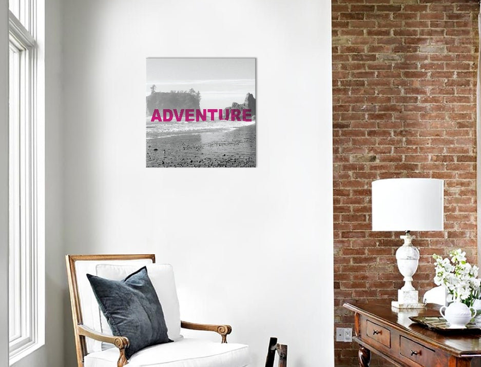 "Bold Adventures V (ADVENTURE) by Laura Marshall Canvas Print 18"" L x 18"" H x 0.75"" D"