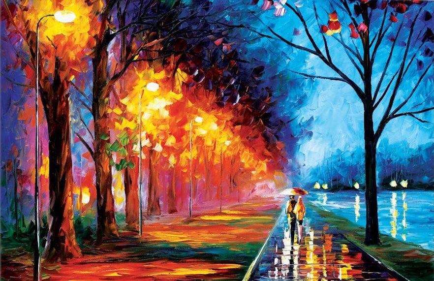 Alley by The Lake II by Leonid Afremov