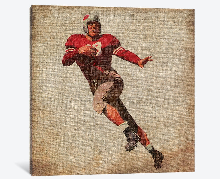 "Vintage Sports IV by John Butler Canvas Print 26"" L x 26"" H x 0.75"" D"