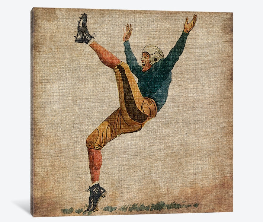 "Vintage Sports V by John Butler Canvas Print 37"" L x 37"" H x 0.75"" D"