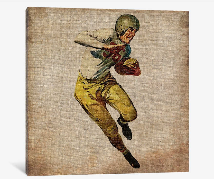"Vintage Sports III by John Butler Canvas Print 37"" L x 37"" H x 0.75"" D"
