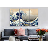 The Great Wave at Kanagawa 1829 by Katsushika Hokusai Canvas Print