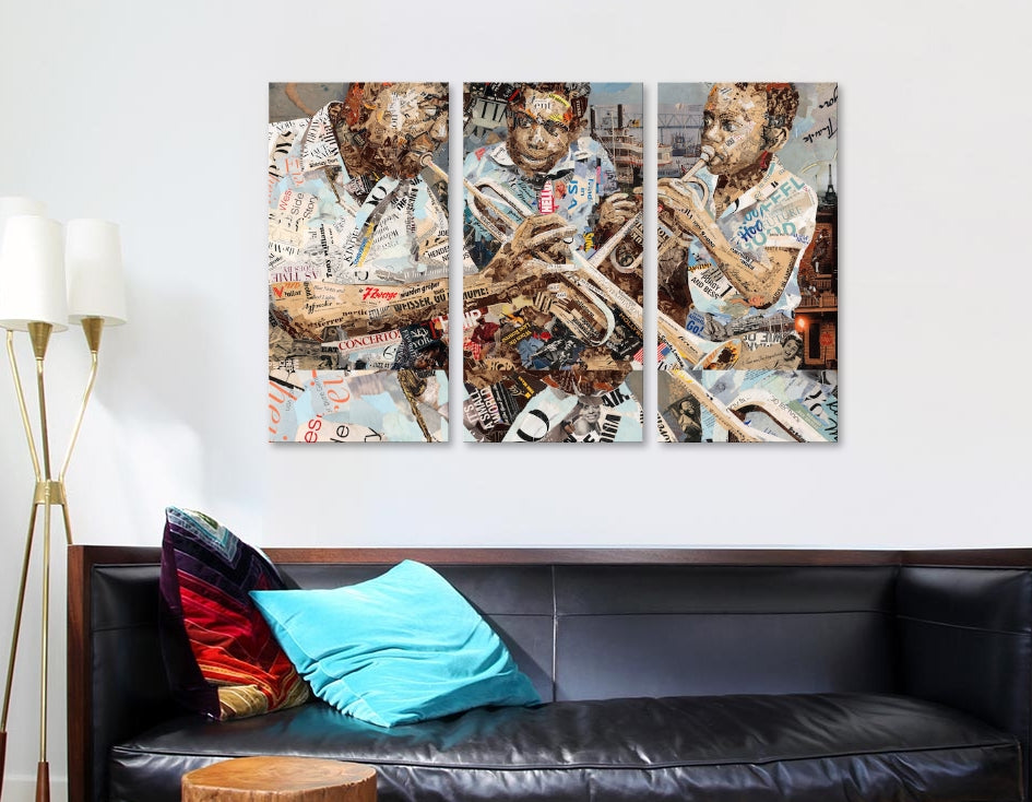 "Blues Boys  by Ines Kouidis Canvas Print 60"" L x 40"" H x 0.75"" D"