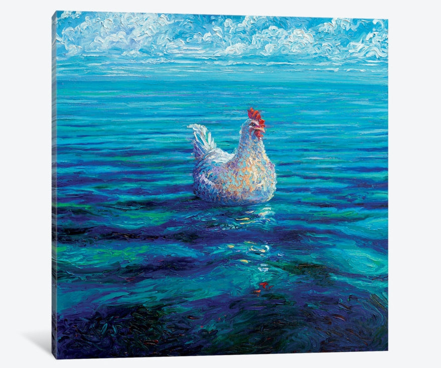 "Chicken of the Sea by Iris Scott Canvas Print 26"" L x 26"" H x 0.75"" D"