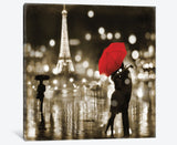 A Paris Kiss by Kate Carrigan Canvas Print 48