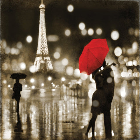 "A Paris Kiss by Kate Carrigan Canvas Print 26"" L x 26"" H x 0.75"" D"