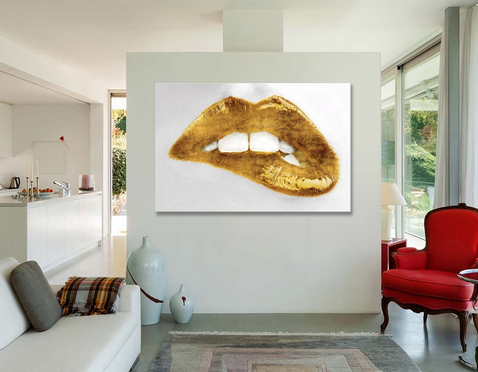 "Luscious Gold by Sarah McGuire Canvas Print 60"" L x 40"" H x 1.5"" D"