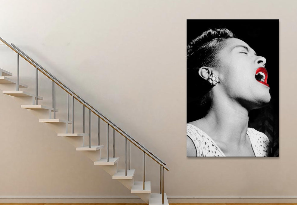 "Billie Holiday Color Pop Canvas Print 18"" L x 26"" H x 0.75"" D"