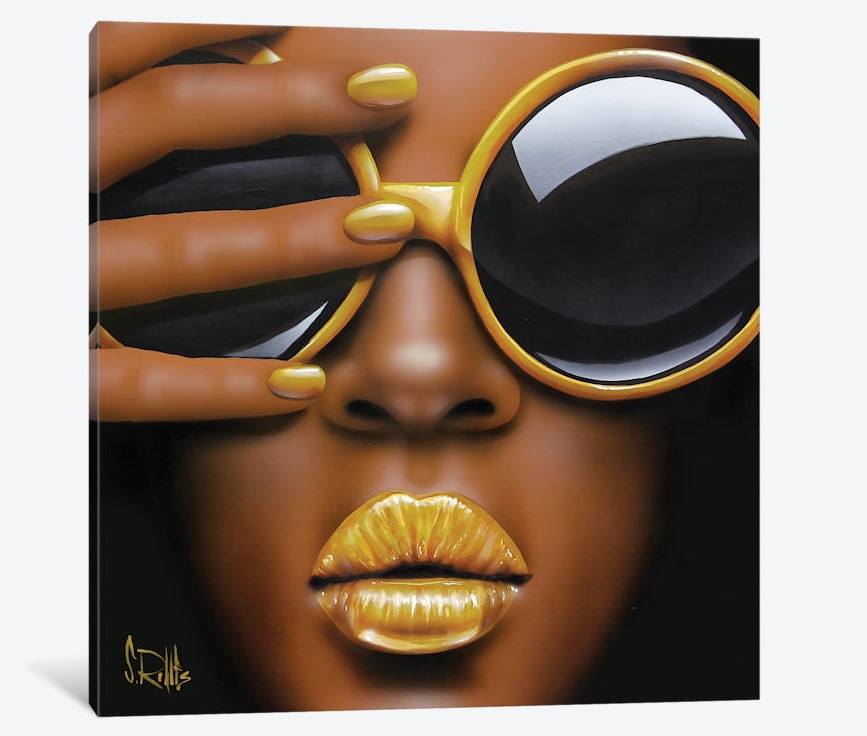 "Goldilips by Scott Rohlfs Canvas Print 26"" L x 26"" H x 0.75"" D"