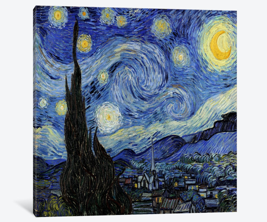 "The Starry Night Canvas Print 48"" L x 48"" H x 1.5"" D"