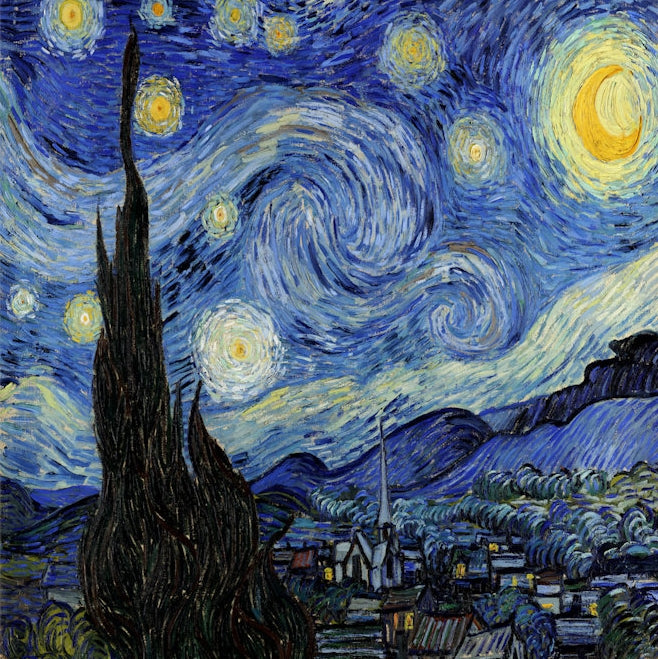 "The Starry Night Canvas Print 37"" L x 37"" H x 0.75"" D"