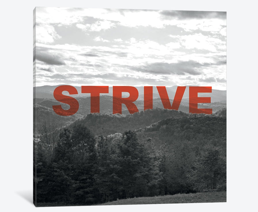 "Bold Adventures VI (STRIVE) by Laura Marshall Canvas Print 18"" L x 18"" H x 0.75"" D"
