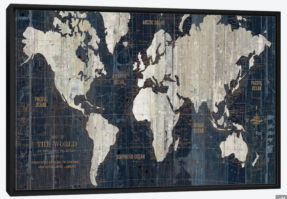 Wall art old world map blue by wild apple portfolio canvas print old world map blue by wild apple portfolio gumiabroncs Image collections
