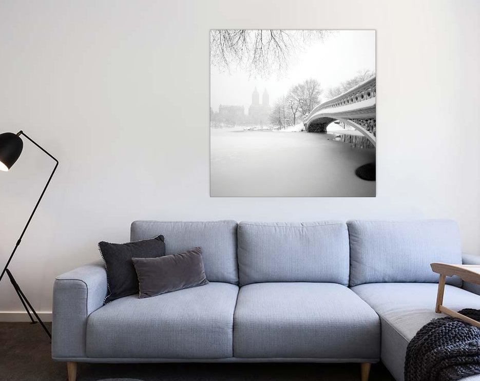 "Bow Bridge Central Park by Håkan Strand Canvas Print 26"" L x 26"" H x 0.75"" D"