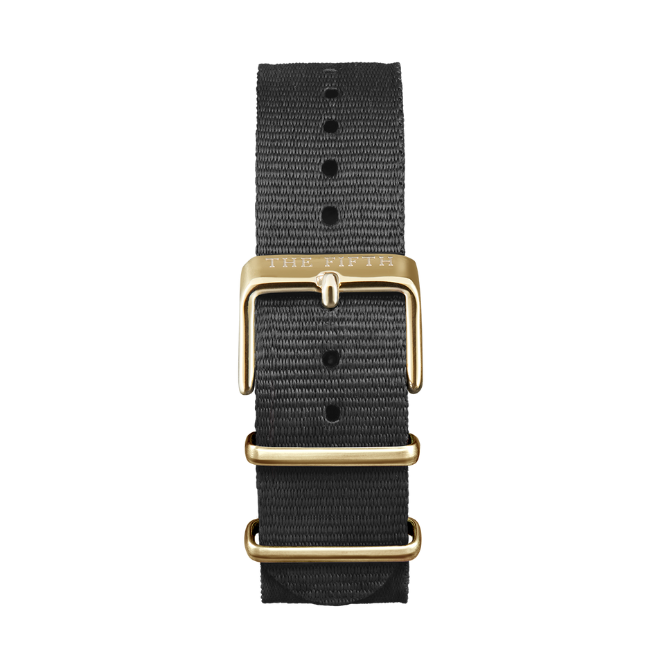 Nato Strap Black & Gold - Womens