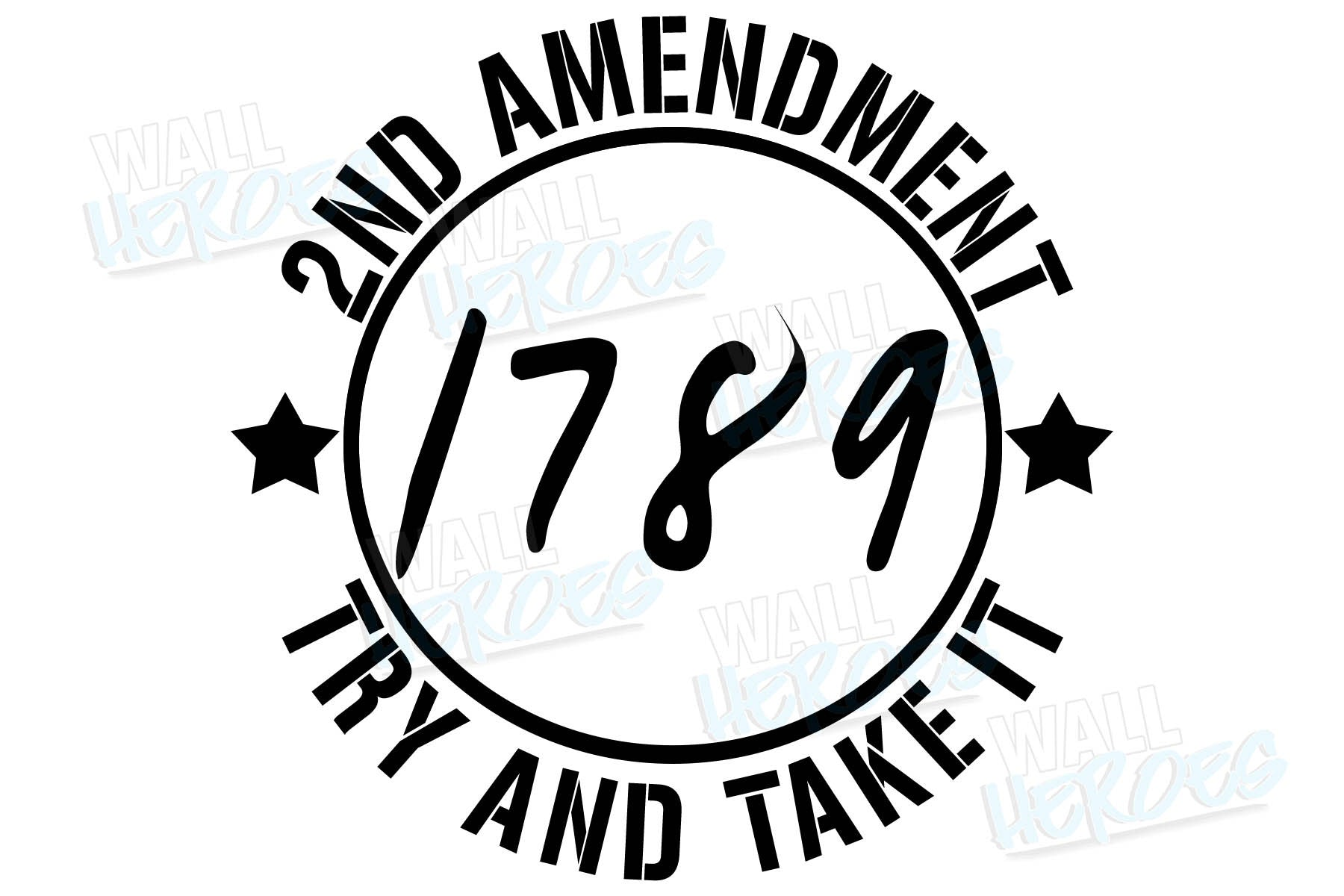 1789 2nd Amendment Car Decal