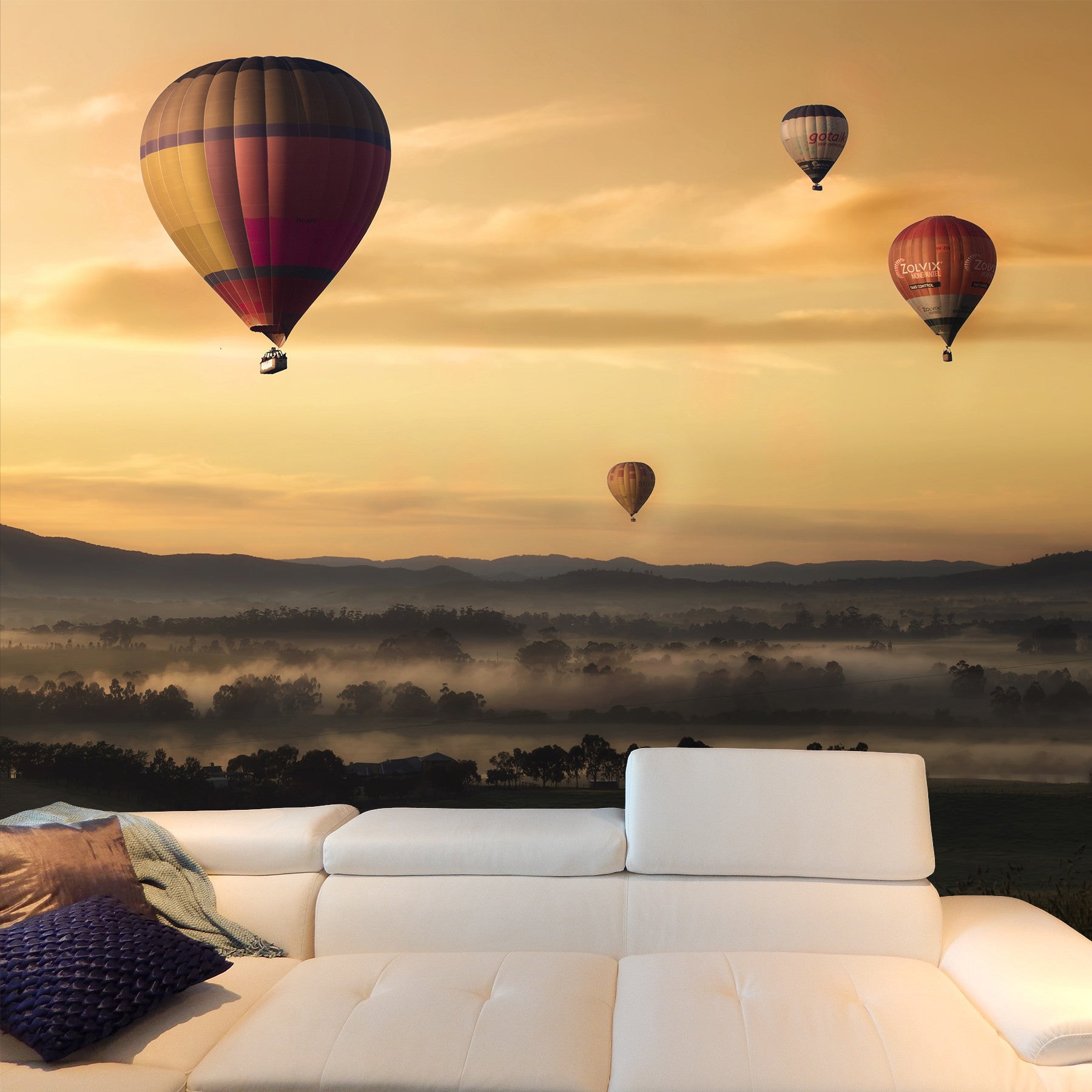 Balloons at Dawn Mural
