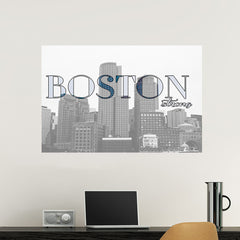 Boston City Vinyl Print