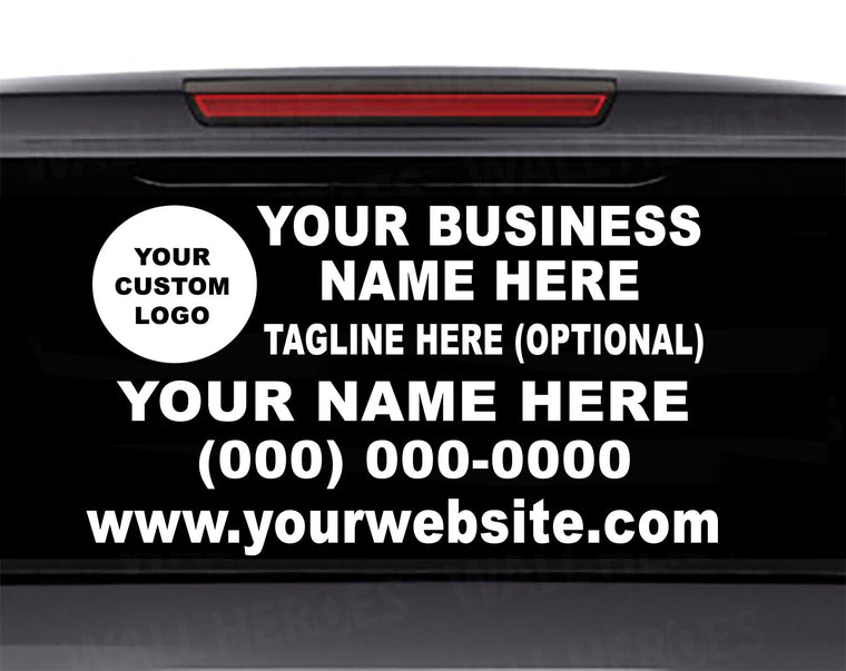 Create Your Own Business Car Window Decal