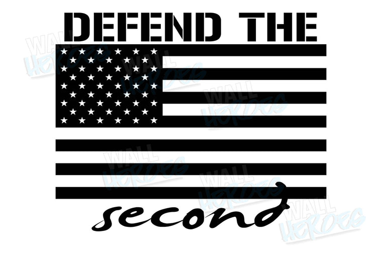 Defend the Second Car Decal
