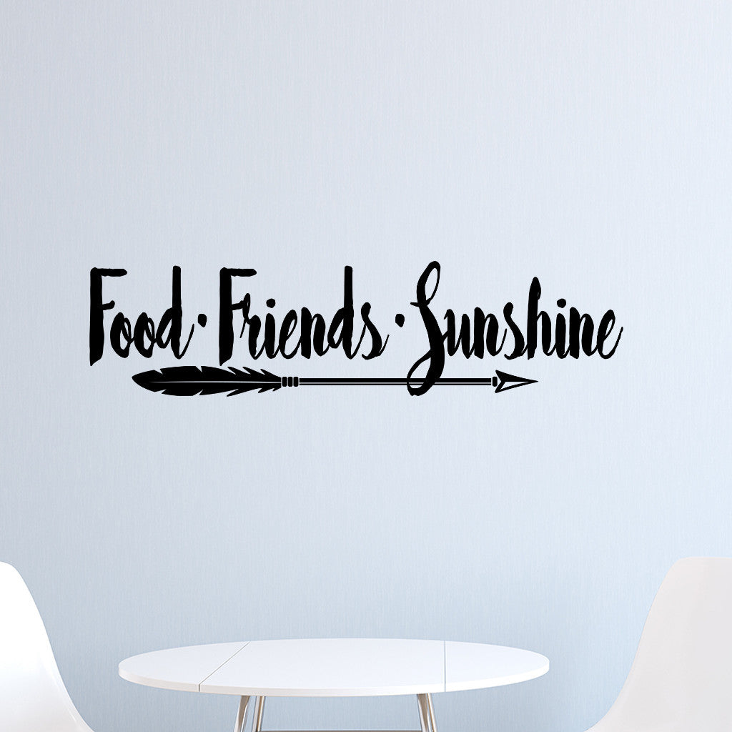 Friends and Sunshine Vinyl Decal