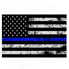 Thin Blue Line Vinyl Flag Print
