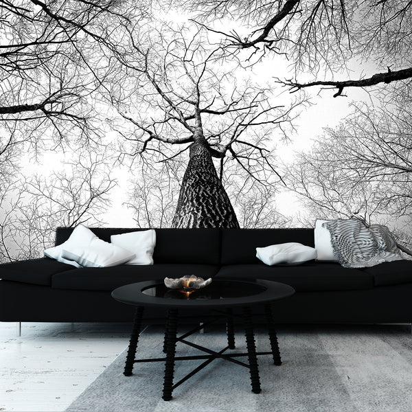 Monochrome Branches Adhesive Mural