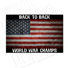 Back to Back Champs Flag