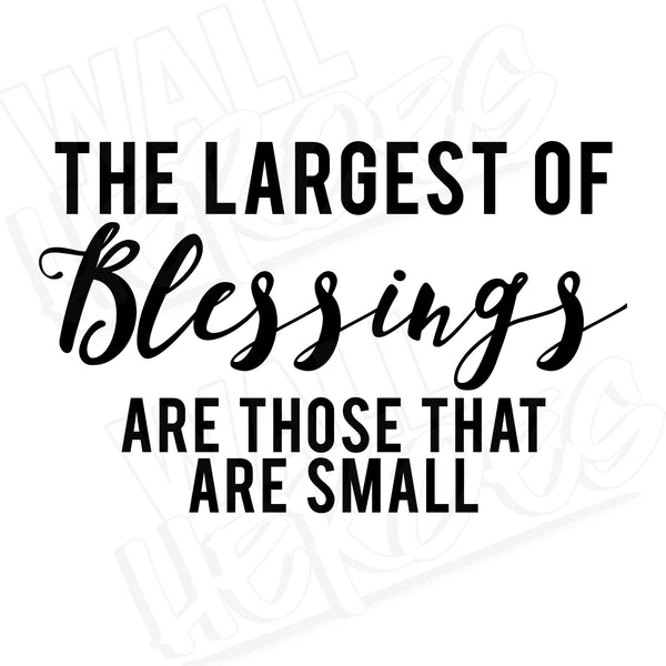 Blessings decal