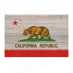 California Wood Flag