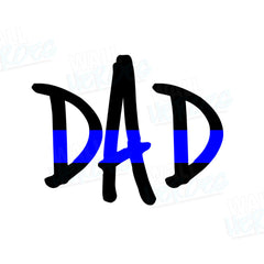 Dad Blue Line Car Decal