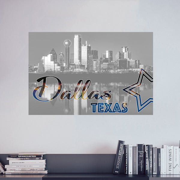 Dallas City Vinyl Print