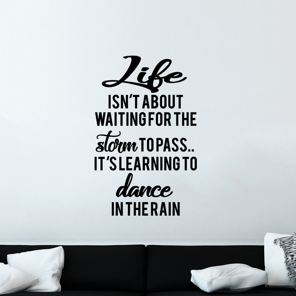 Dance in the Rain Vinyl Decal