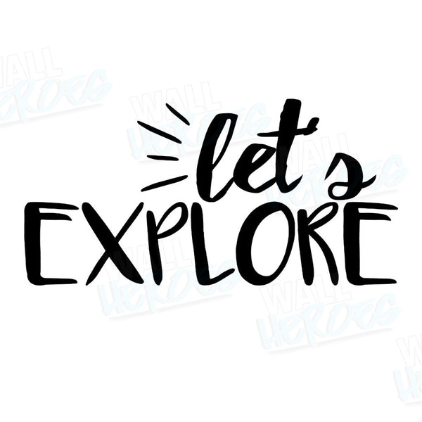 Let's Explore Car Decal