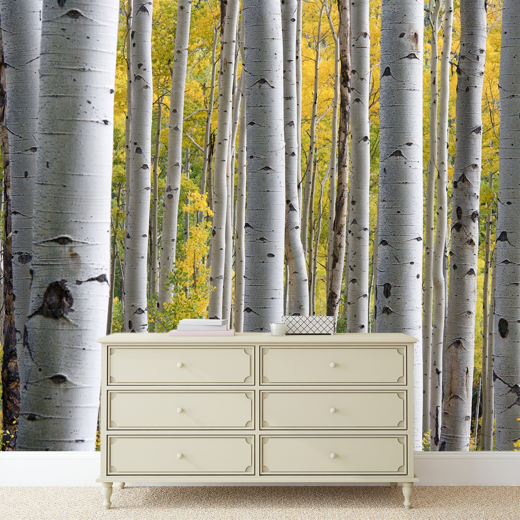 Birch Tree Adhesive Mural