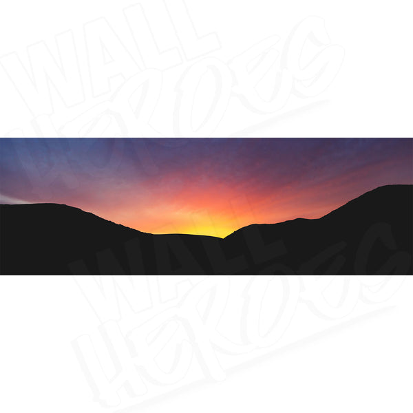 Sunset Silhouette Adhesive Panel Print