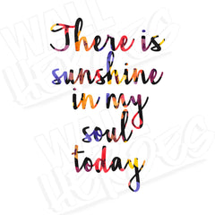 Sunshine in My Soul Decal