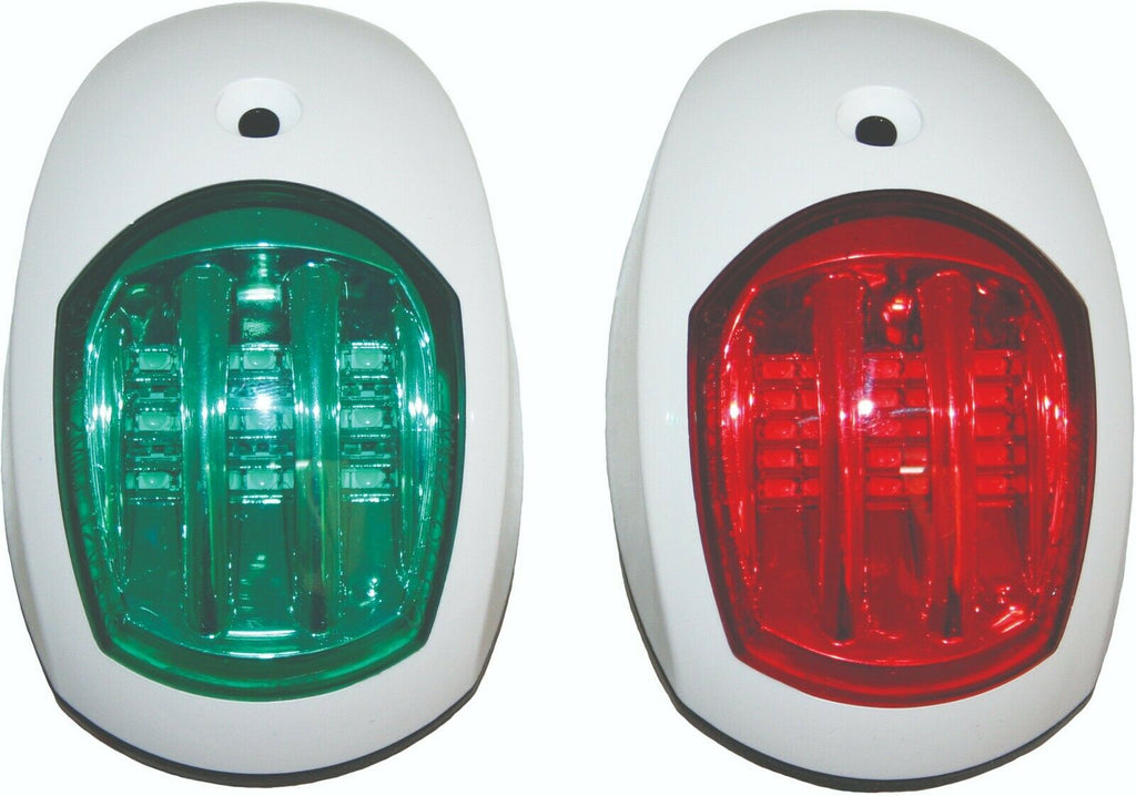 12 Volt LED Navigation Lights Boat Port & Starboard - White 12 volt