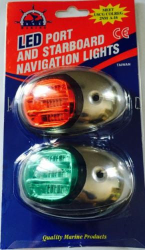 Navigation Lights Stainless Steel  LED for Boats US COLREGS approved 2n Miles