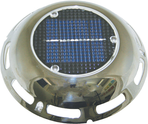 SOLAR VENT - STAINLESS, SWITCH & RE- CHARGING BATTERY