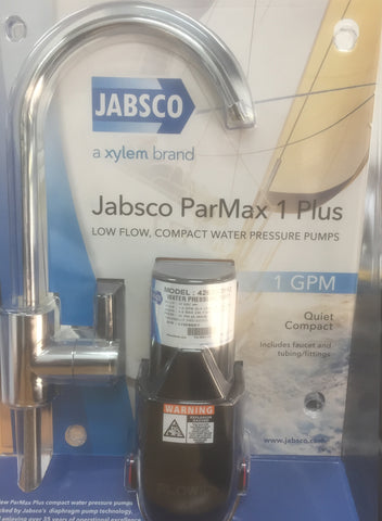 Camper Pump & Tap Kit Jabsco 1 GPM Pump + Quality Tap & Tube With Fittings 12V